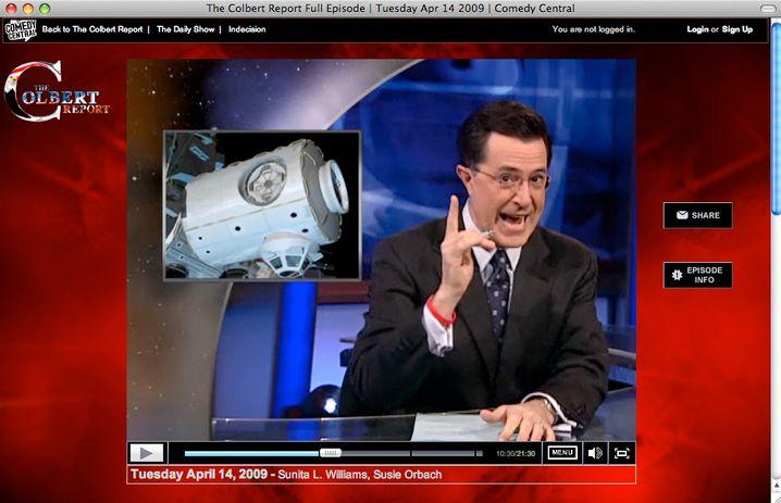 Komiker Stephen Colbert vor ISS-Modul