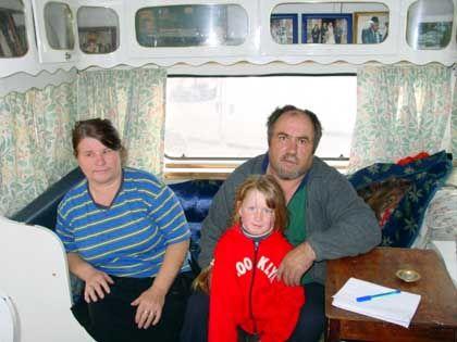 Michael Mongan mit seiner Frau Mary-Ellen und Enkelin