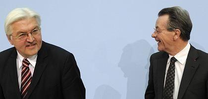 Kanzlerkandidat Steinmeier, SPD-Chef Müntefering: Kurswechsel