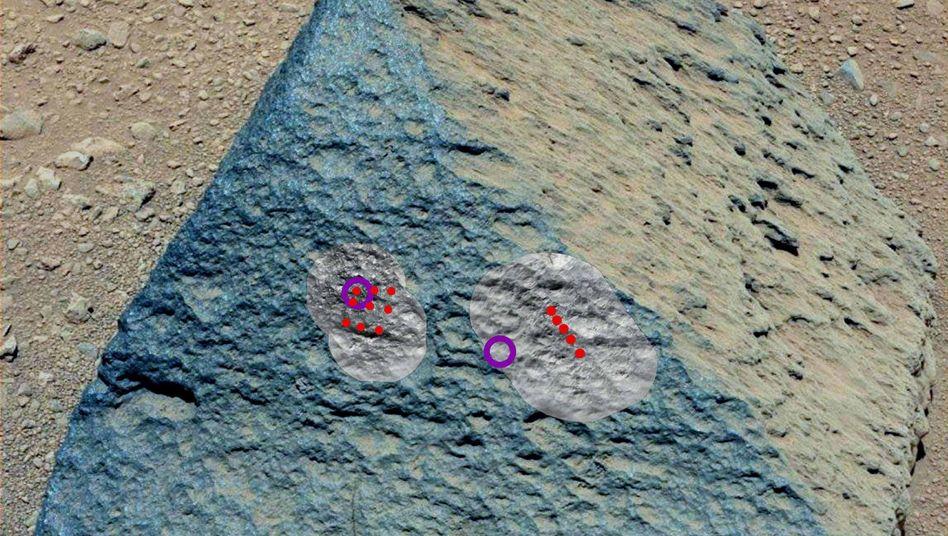 """Der """"Jake Matijevic"""": Rote Punkte zeigen die Bereiche, die per Laser untersucht wurden"""