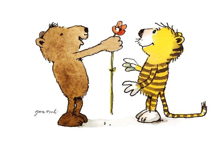 Janosch-Figuren Bär und Tiger