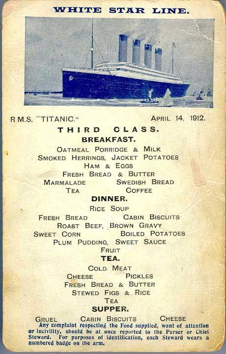 """""""Titanic""""-Speisekarte: Luxusliner war nicht für maximale Geschwindigkeit gebaut"""