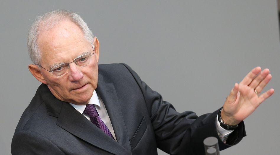 Finanzminister Schäuble: Pläne für einen eigenständigen Etat der Währungsunion