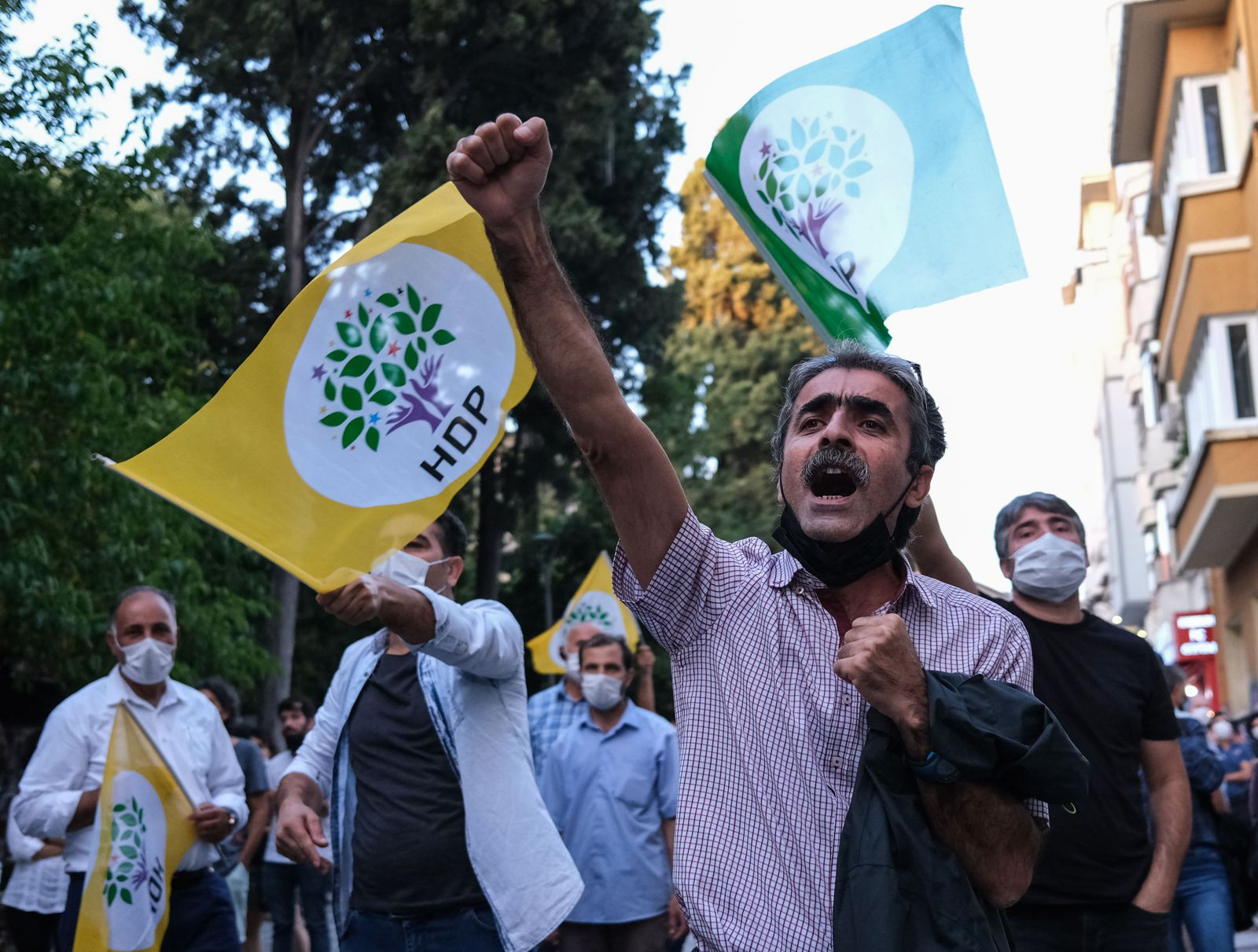 Pro-Kurdish party Peoples' Democratic Party (HDP) protest against government, Istanbul, Turkey - 25 Sep 2020