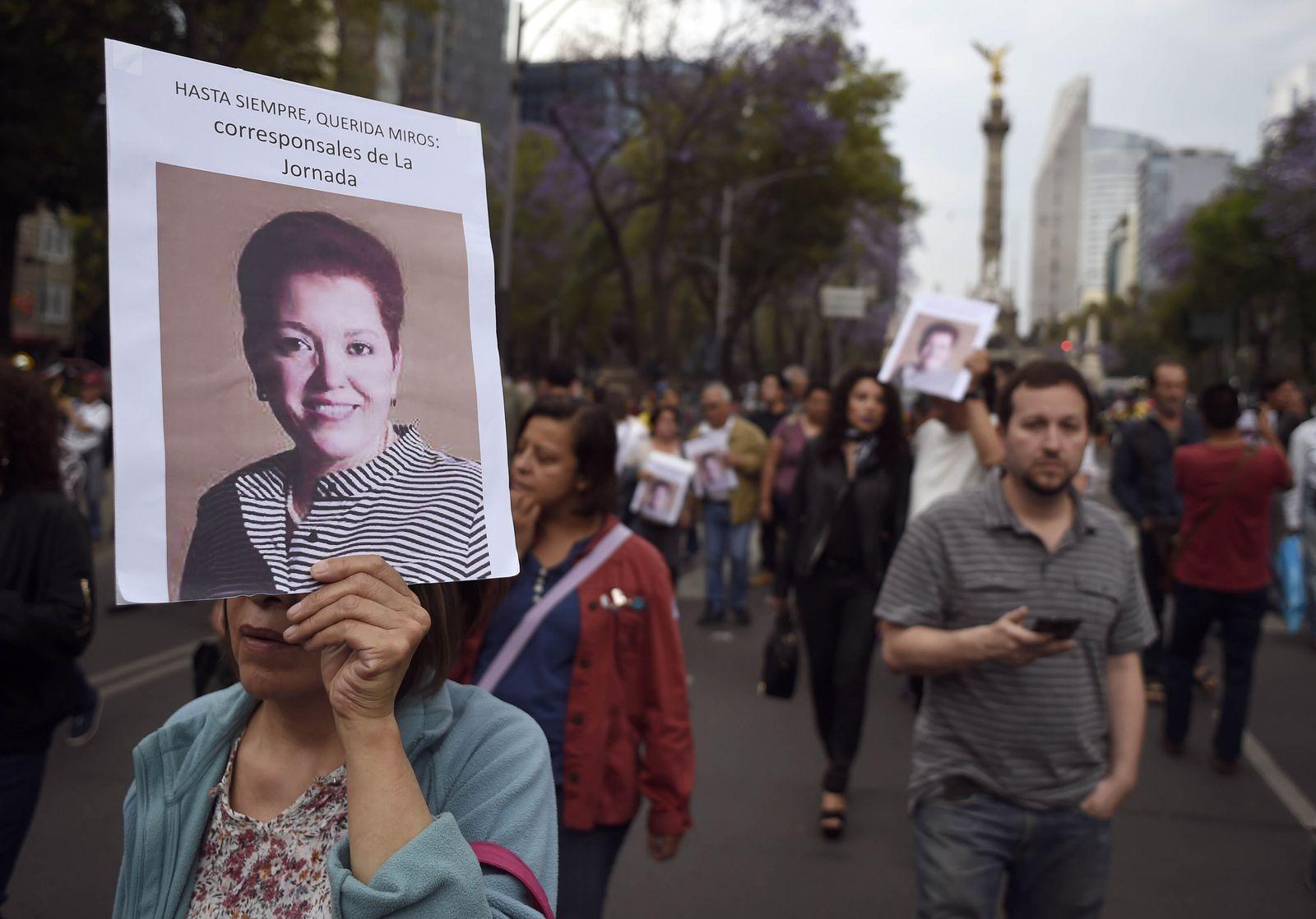 MEXICO-VIOLENCE-CRIME-JOURNALIST-PROTEST
