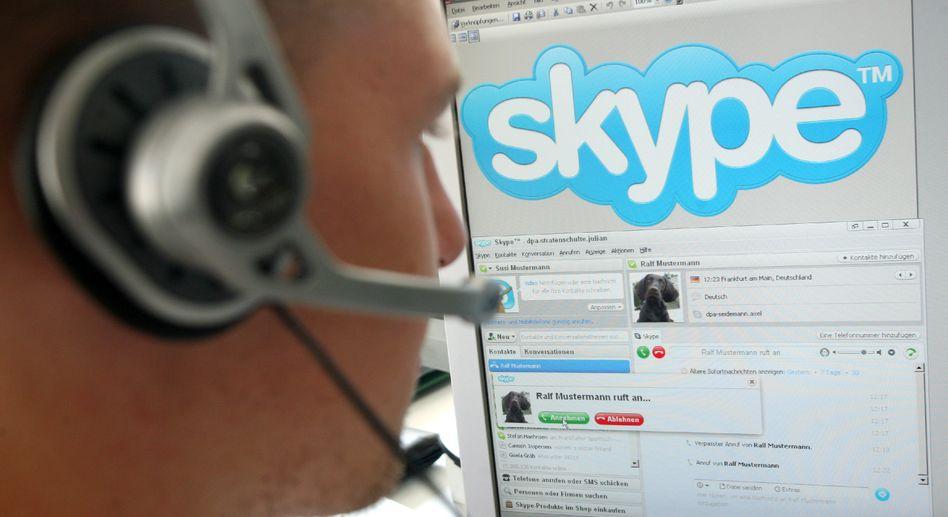 Skype: Internet-Telefonie gilt (offenbar fälschlicherweise) als weitgehend abhörsicher