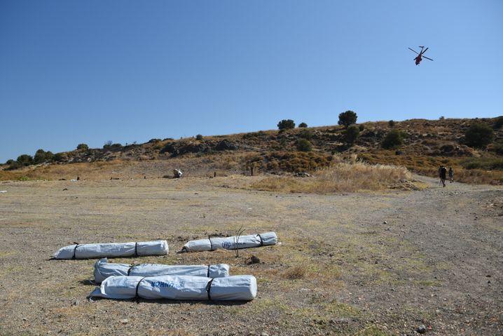 Material für provisorisches Zeltlager