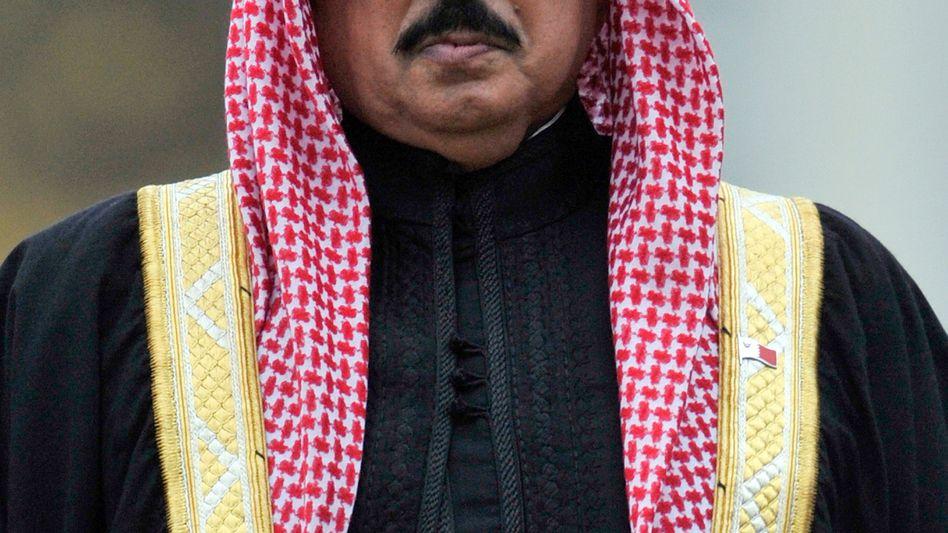 The king of Bahrain, Hamad bin Isa al Khalifa.