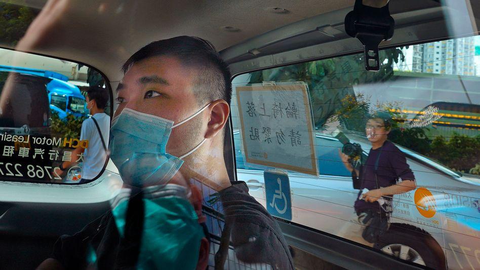 Der angeklagte Aktivist Tong Ying-Kit (Archivaufnahme)