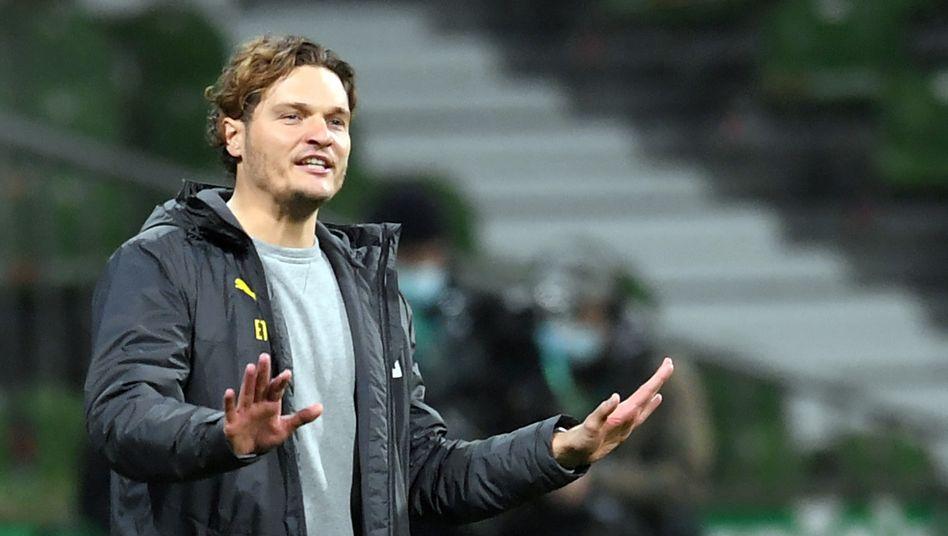 Edin Terzić bei seiner Premiere als Cheftrainer