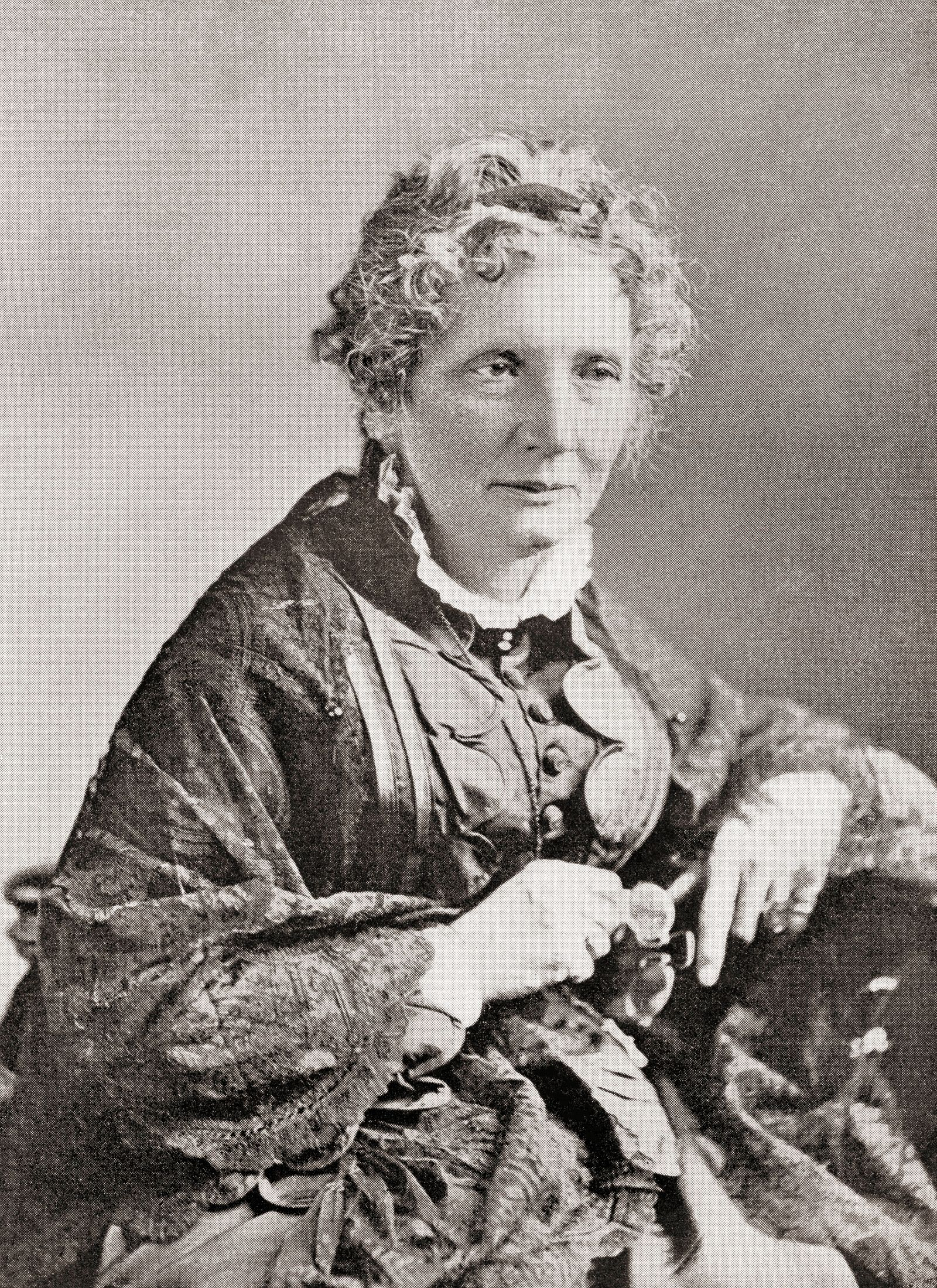 Harriet Elisabeth Beecher Stowe, 1811 1896. American abolitionist and author. From The International Library of Famous L