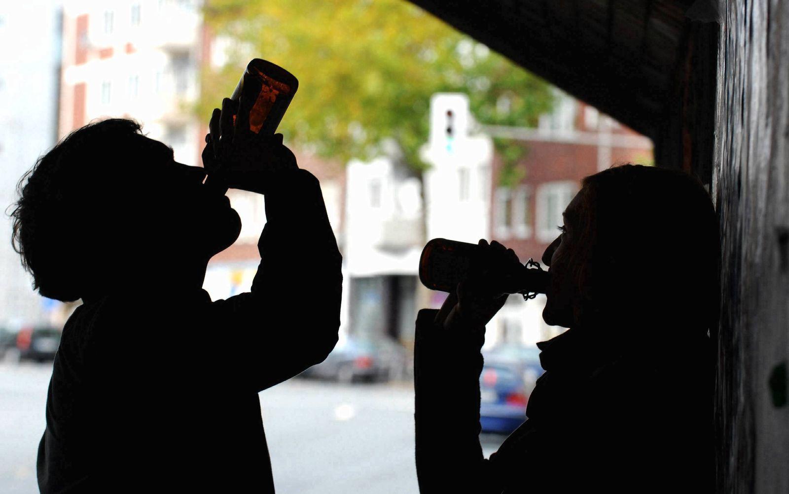 NICHT VERWENDEN Alkohol Komasaufen