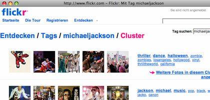 Flickr-Pool zu Michael Jackson: Seit der Todesnachricht tausende neue Bilder hochgeladen