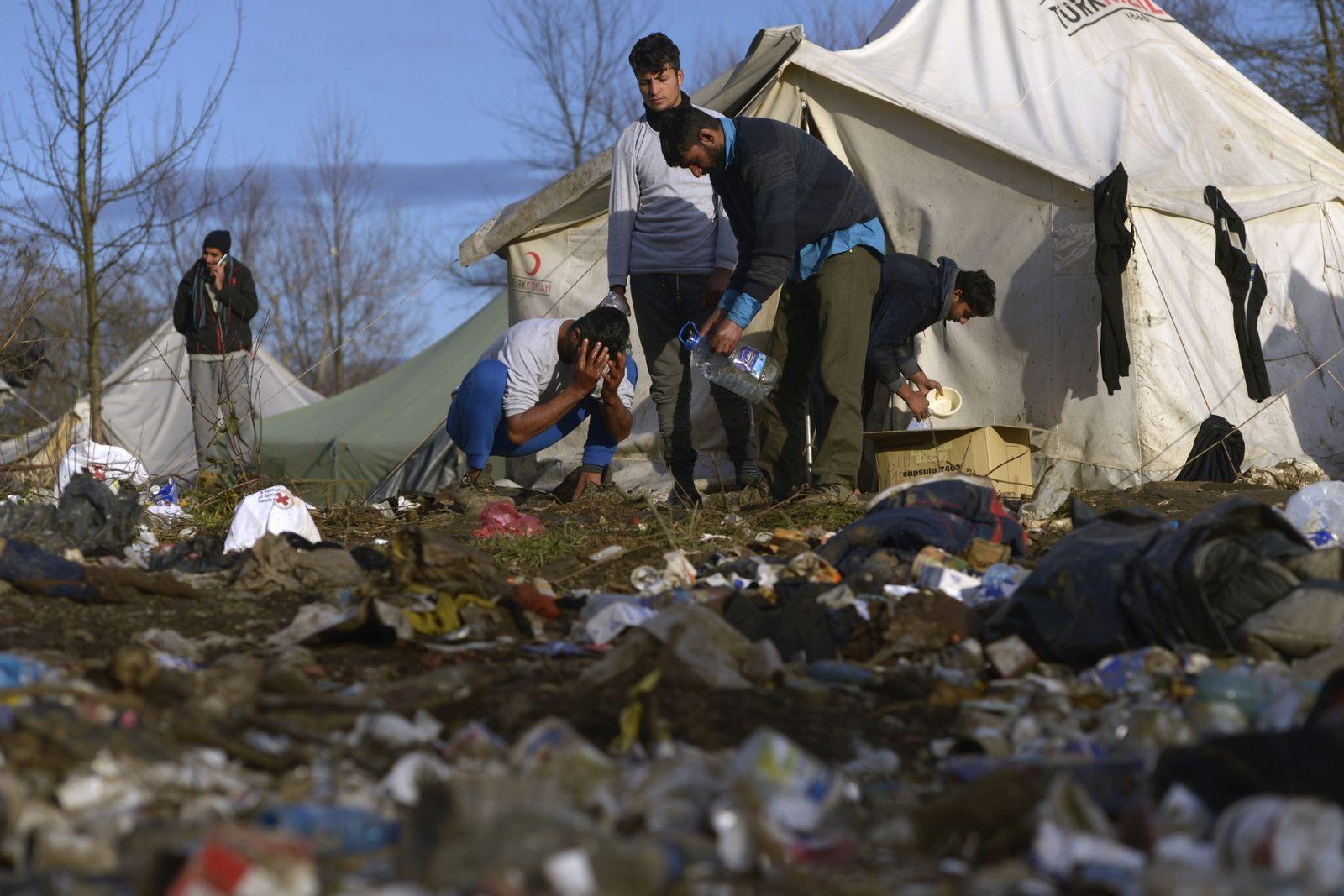 Migranten in Vucjak