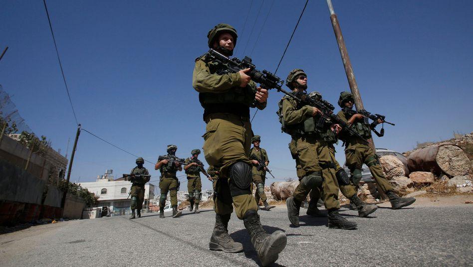 Israelische Soldaten im Westjordanland