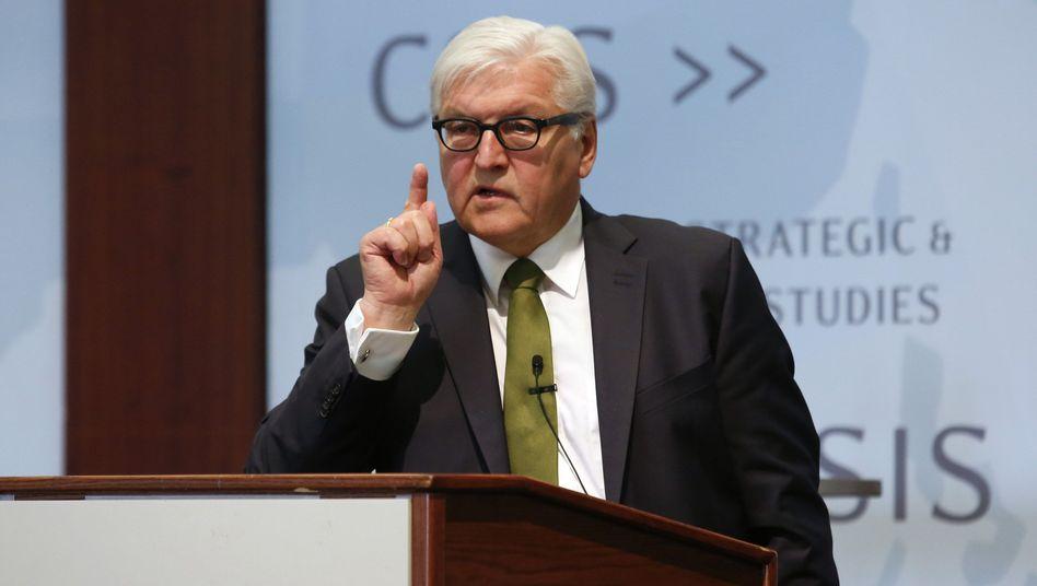 Außenminister Steinmeier macht im Flüchtlingsstreit Druck