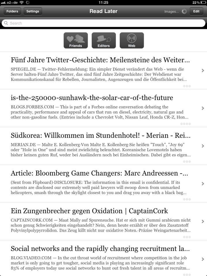Instapaper: Zeitungsstapel adé