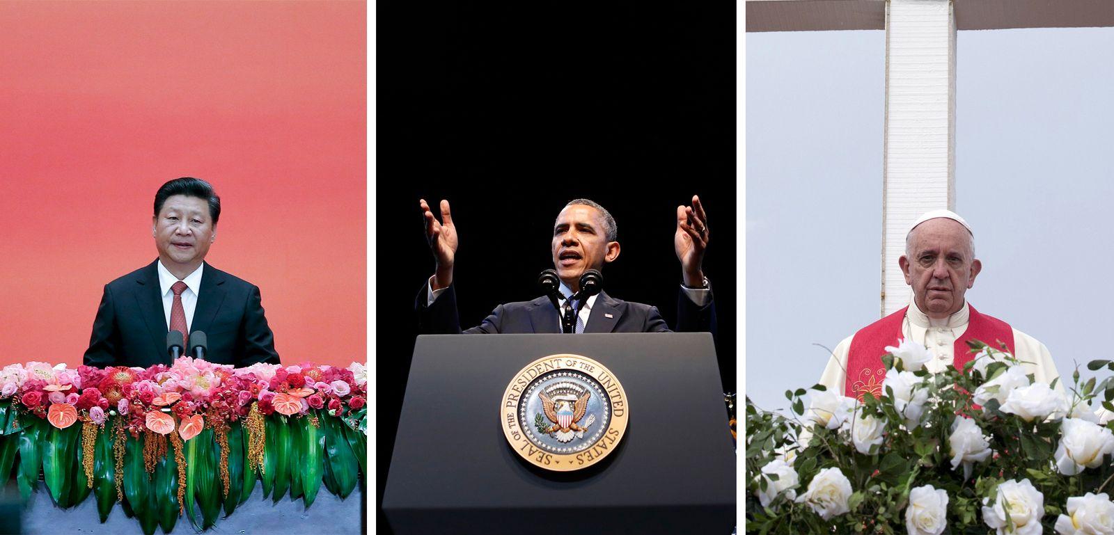 Xi/ Obama/ Franziskus/