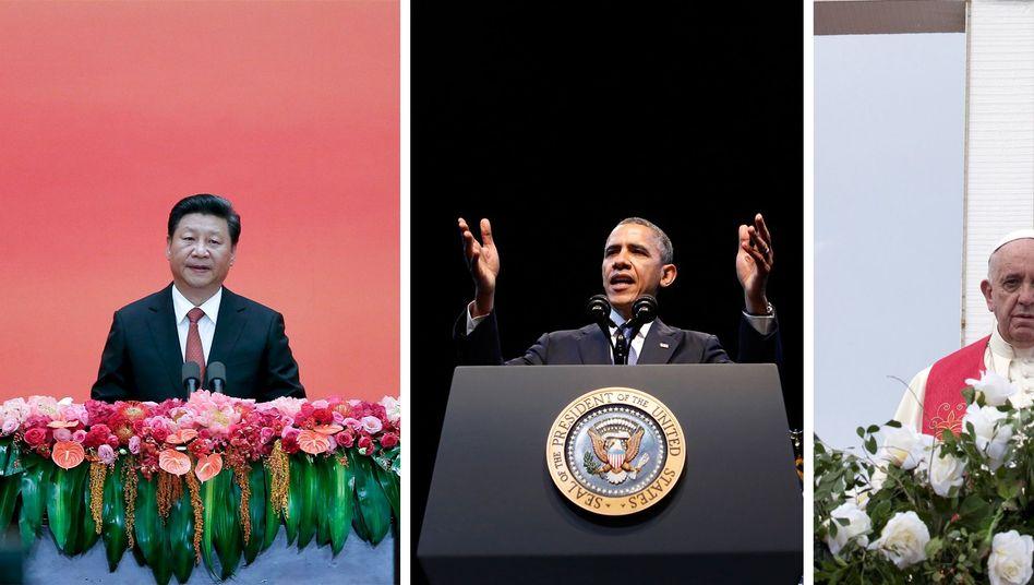 """Chinas Xi, US-Präsident Obama, Papst Franziskus: """"Heilige Pflicht"""""""