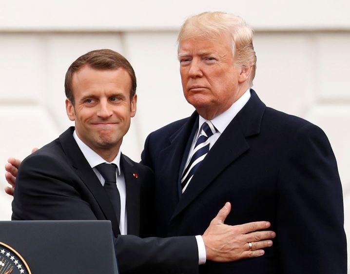 Macron und Trump: Den Präsidenten nicht verstimmen