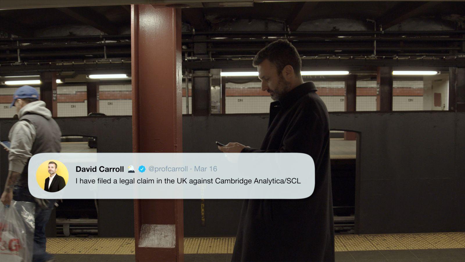 EINMALIGE VERWENDUNG Netflix-Film The Great Hack