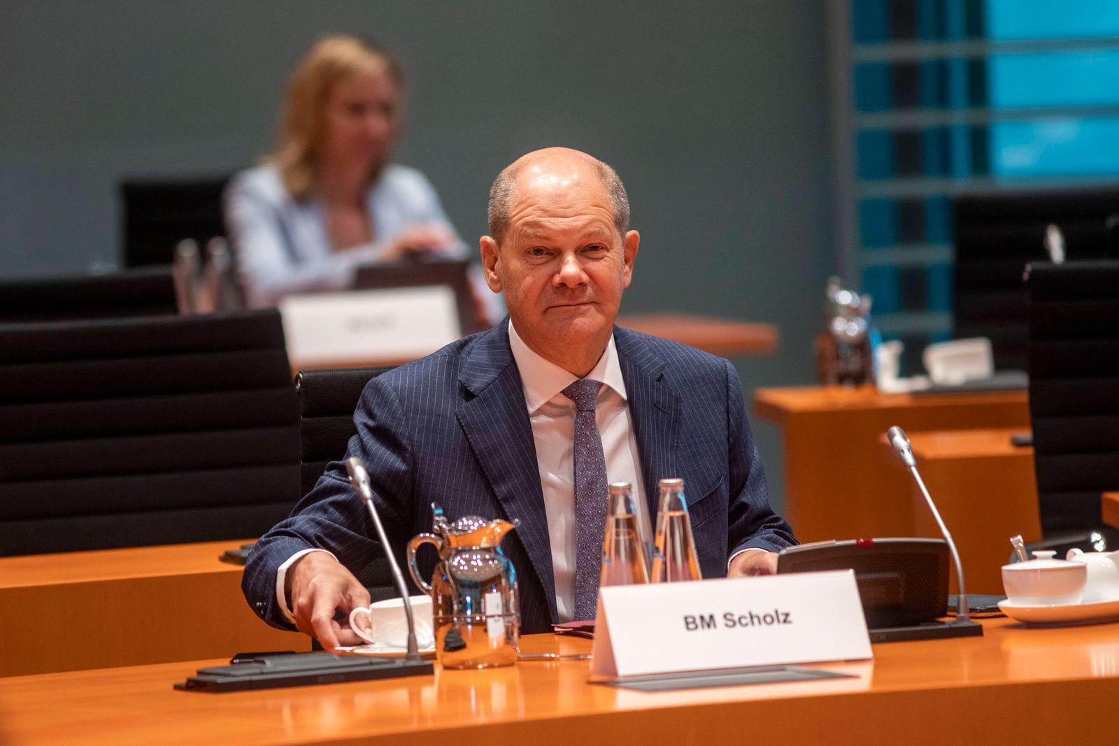 Deutschland, Berlin, Bundeskanzleramt, 109. Sitzung des Bundeskabinetts, Finanzminister Olaf Scholz SPD, 19.08.2020 ***