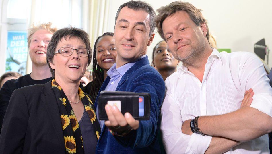 Grünen-Politiker Monika Heinold, Cem Özdemir, Robert Habeck