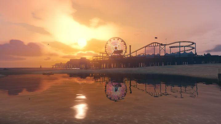 """Digitalvariante des Santa Monica Pier in """"GTA V"""""""