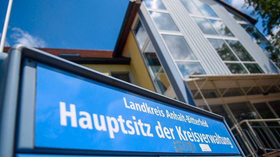 Hauptsitz der Kreisverwaltung des Landkreises Anhalt-Bitterfeld: Die Ransomware-Attacke hat die Verwaltung hart getroffen
