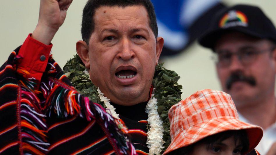 """Venezuelas Präsident Chávez: """"Konflikt könnte sich auf ganzem Kontinent ausbreiten"""""""