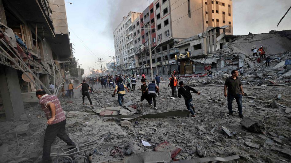 Überreste des Al-Scharuk-Hauses in Gaza: Bereits drei große Gebäude zerstört
