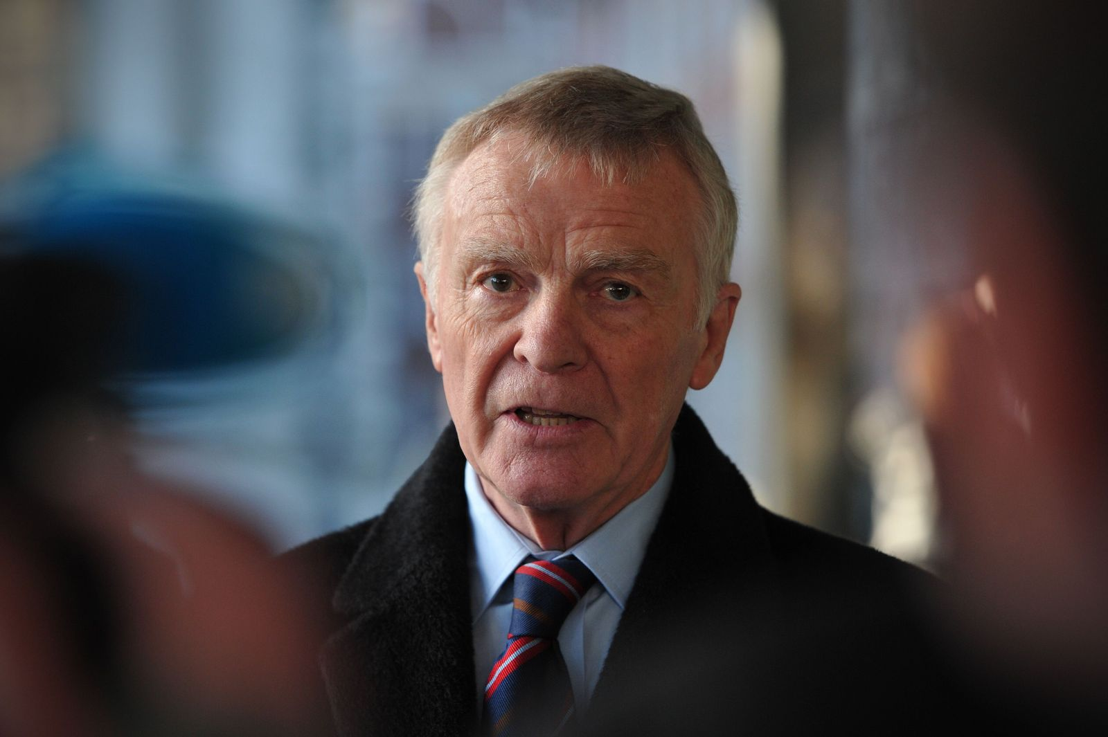 Max Mosley speaks to the press