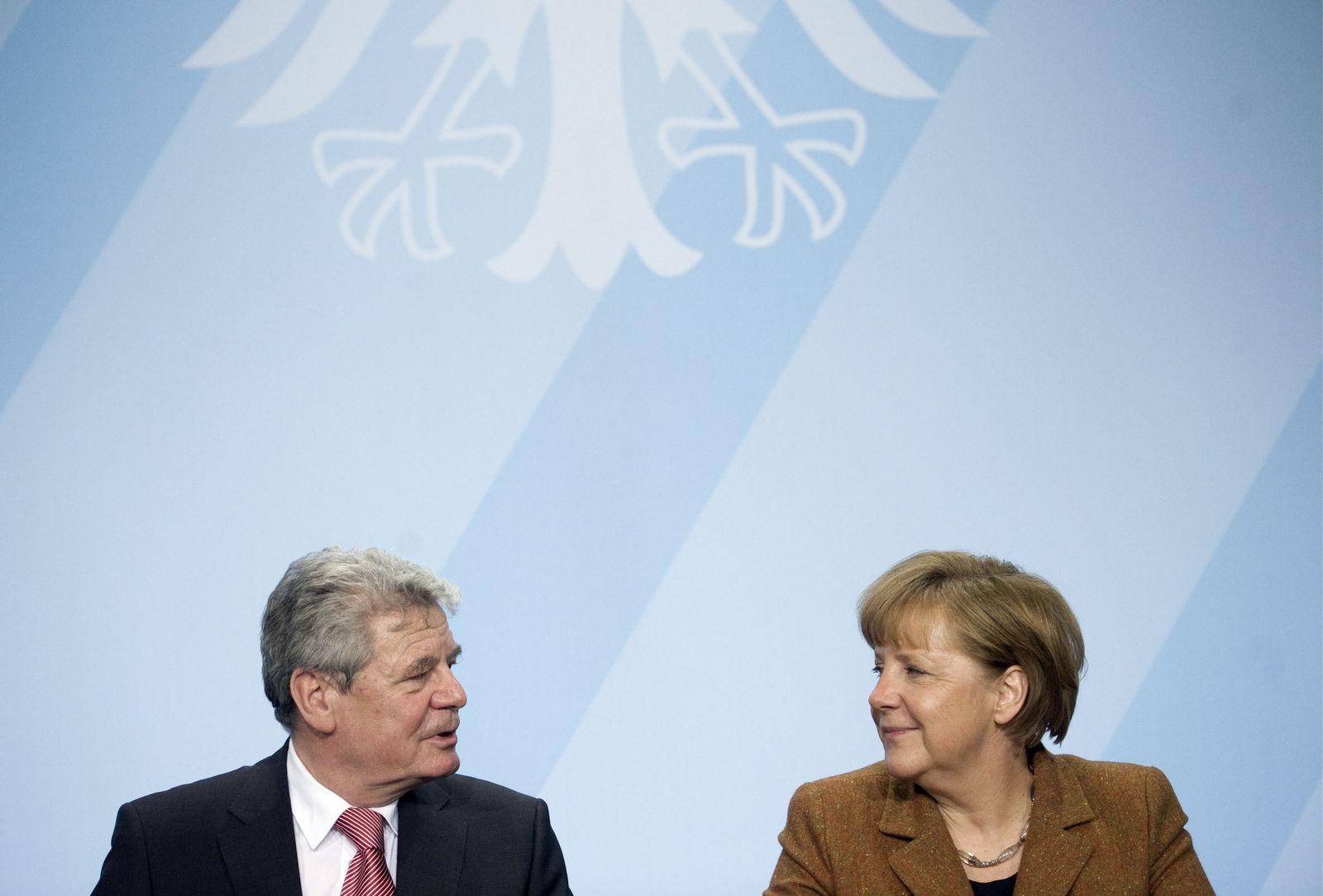 NICHT VERWENDEN Merkel / Gauck
