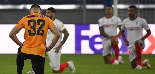 Auch in der Europa League gehen die Spieler in die Knie