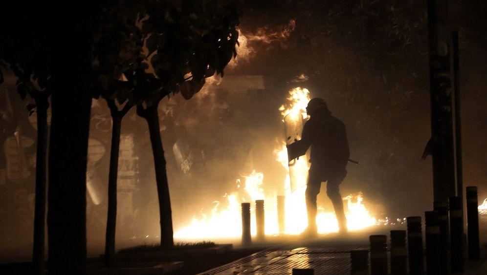 Ausschreitungen in Griechenland: Gedenken in Feuer