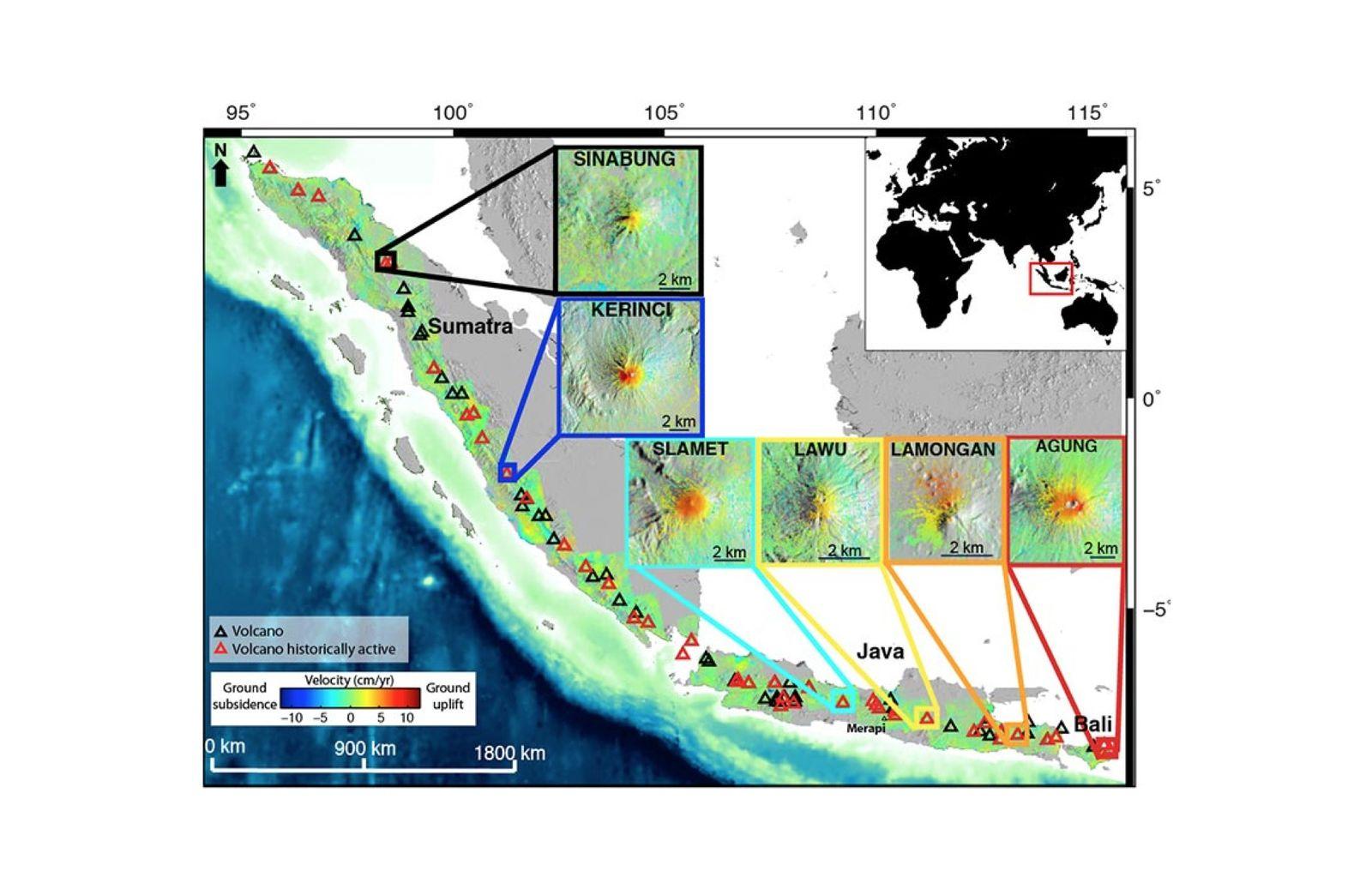 EINMALIGE VERWENDUNG GRAFIK Indonesien / Vulkane / WISSENSCHAFT