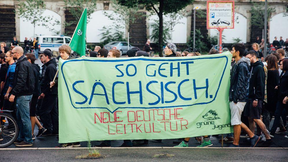 Dresden: Parolen und Solidarität