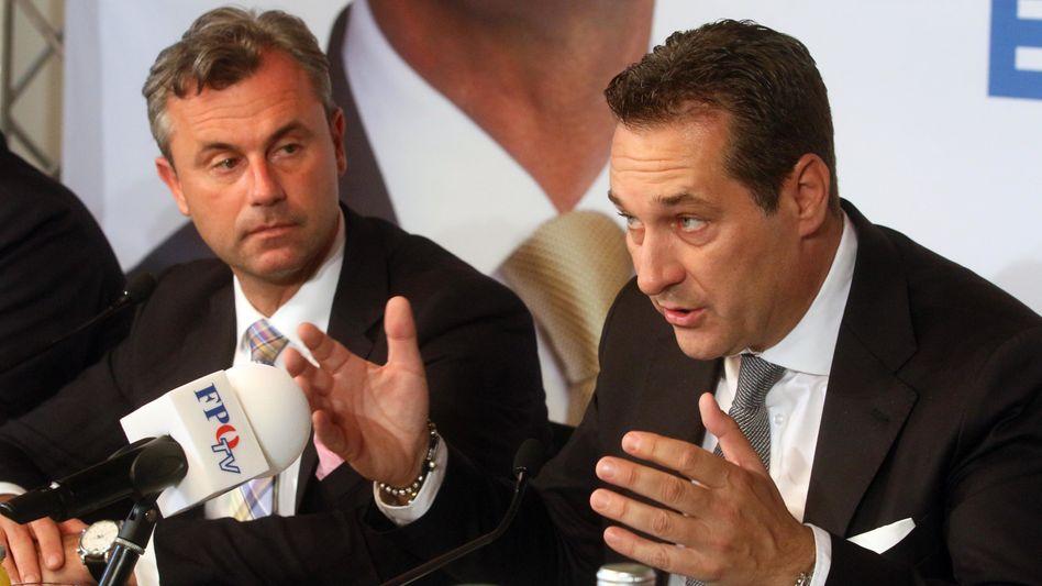 Norbert Hofer (li.), Heinz-Christian Strache