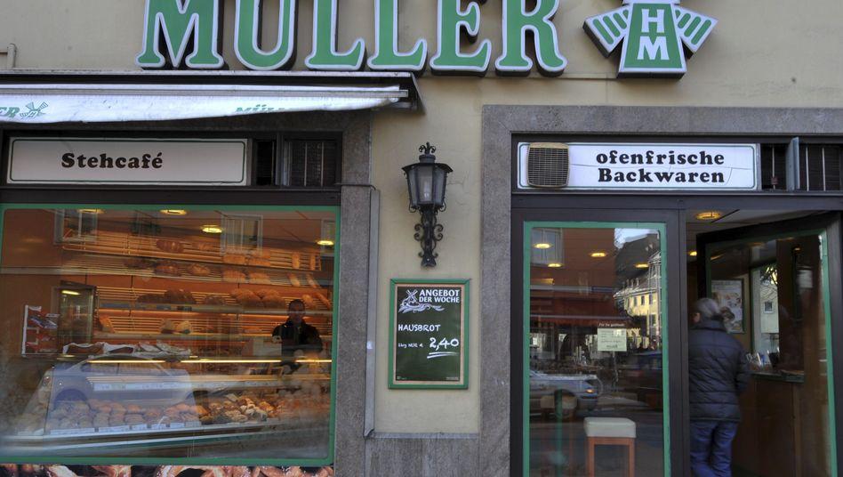 Müller-Filiale in Süddeutschland: Die Großbäckerei lieferte auch an Supermärkte