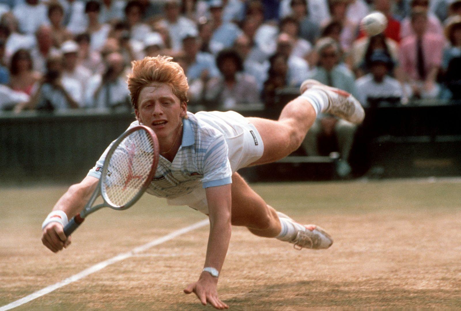 Boris Becker siegt 1985 in Wimbledon