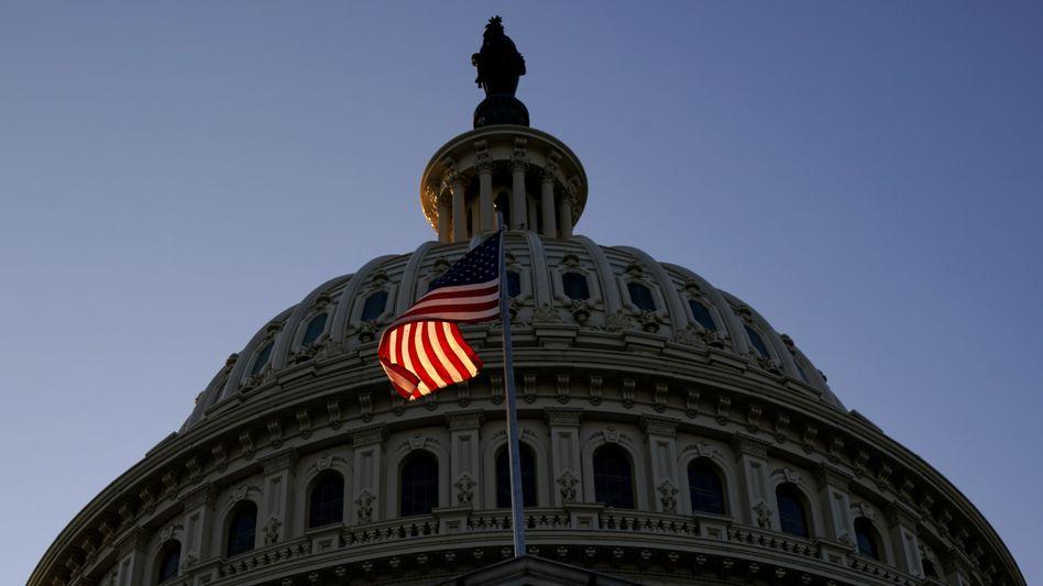 Kapitol in Washington: Abstimmung teils in Schutzmasken