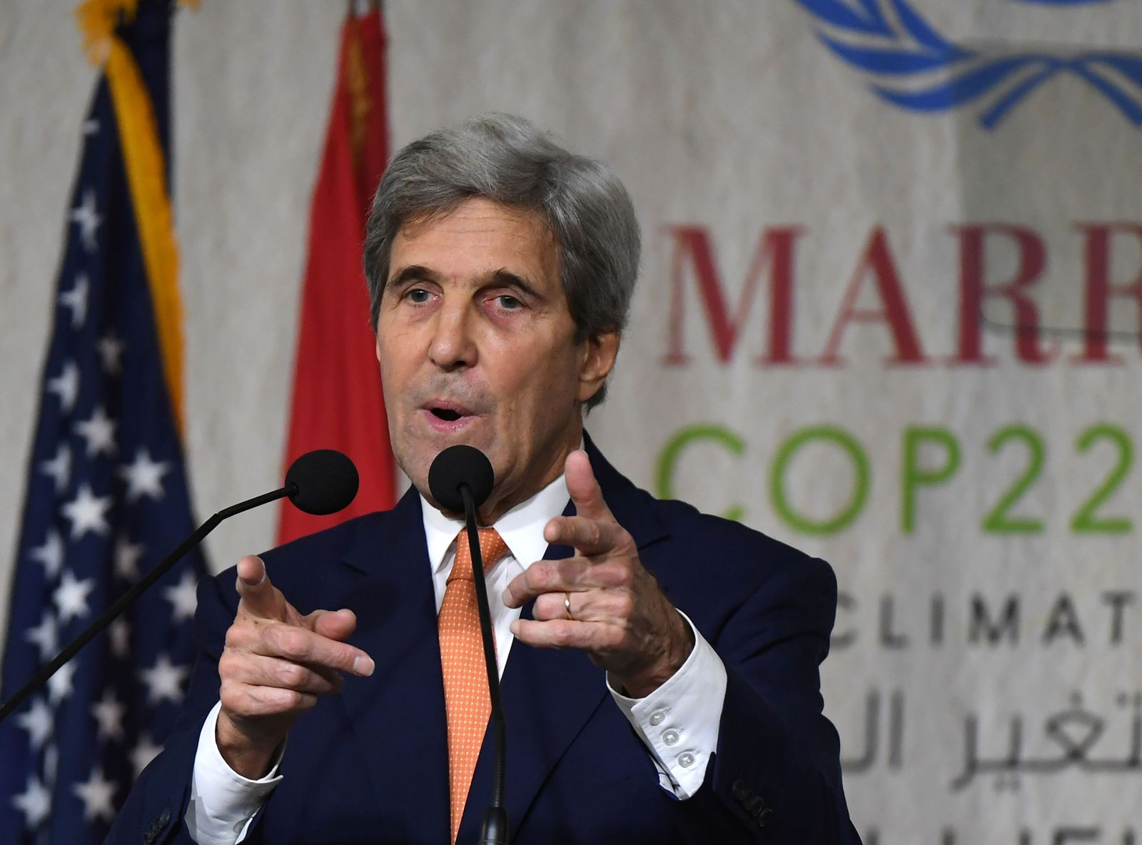MOROCCO-US-COP22-KERRY-CLIMATE-SUMMIT