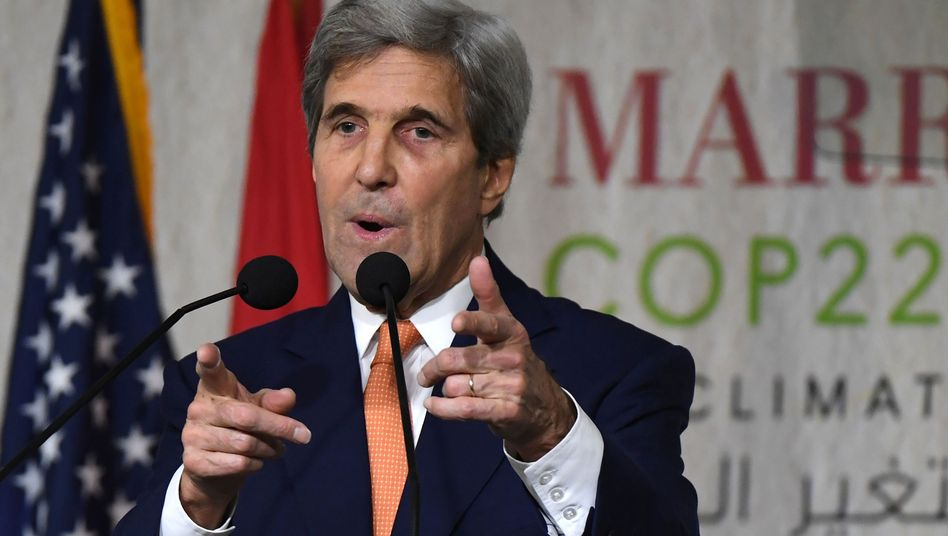 US-Außenminister John Kerry auf der Uno-Klimakonferenz in Marrakesch