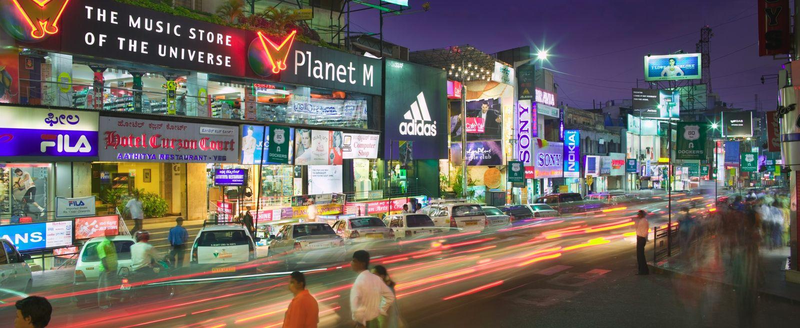 NICHT MEHR VERWENDEN! - Bangalore / Brigade Road / Geschäfte