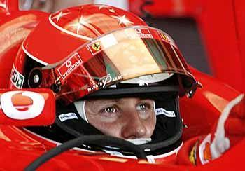 Der Ferrari-Pilot, der 35-jährige Kerpener, der sechsmalige Formel-1-Weltmeister