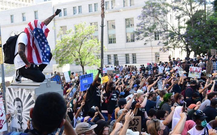 Protest in Los Angeles: Zuletzt verliefen die Demos friedlich