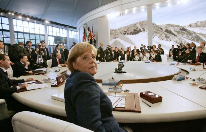 Bundeskanzlerin Merkel beim G-8-Gipfel: Treffen mit Mubarak anberaumt