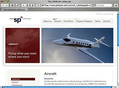 Grob-Internetseite: Landung auf Graspisten möglich