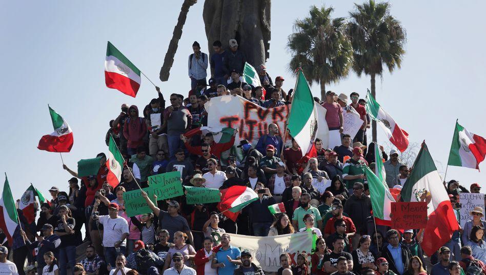 Anti-Einwanderungs-Protest in Tijuana