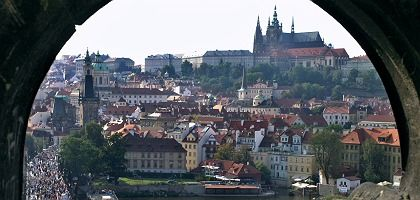 Prague as viewed above the Charles Bridge: Central Europe's strategic landscape has been radically transformed.